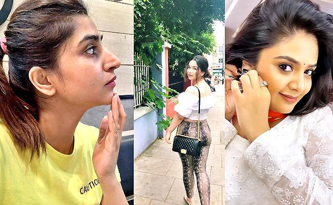 Social Halchal: Deepthi Sunaina, Sreemukhi, Vithika, Katrina Photos - Sakshi