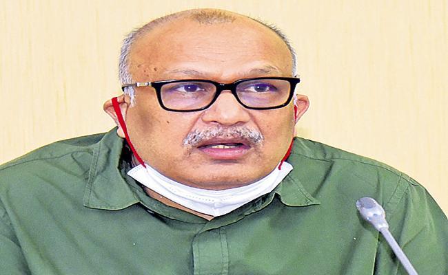CS Adityanath Das Mandate Officials Fishing Harbor Works - Sakshi