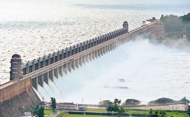 Huge Flood Flow In Krishna River - Sakshi