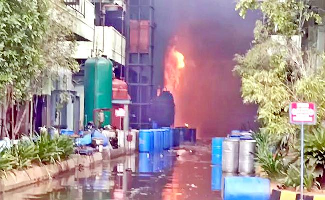 Fire Accident At Chemical Factory  In Hyderabad - Sakshi