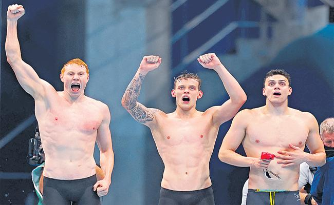 Tokyo Olympics England Won Gold Medal Swimming Relay After 100 Years - Sakshi