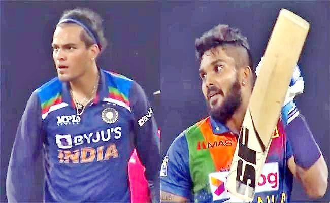 IND Vs SL: Fans Shocked Rahul Chahar Fiery Send Off Wanindu Hasaranga - Sakshi