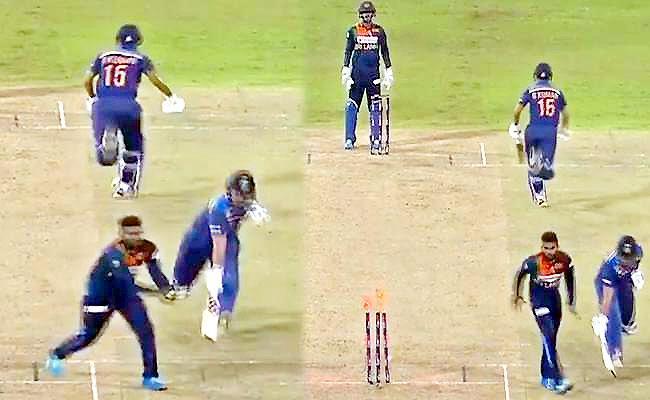 IND Vs SL: Fans Surprise After Wanindu Hasaranga Hitting Blindly At Stumps - Sakshi