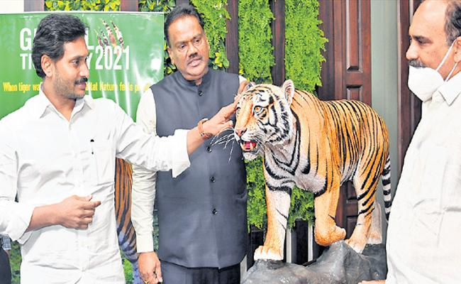CM YS Jagan Comments On World Tiger Day And Release Poster - Sakshi
