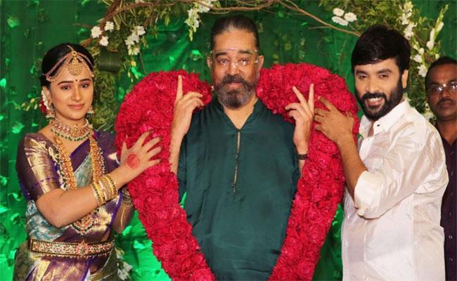 Snehan Ties Knot With Kannika Ravi, Kamal Haasan Attends Event - Sakshi
