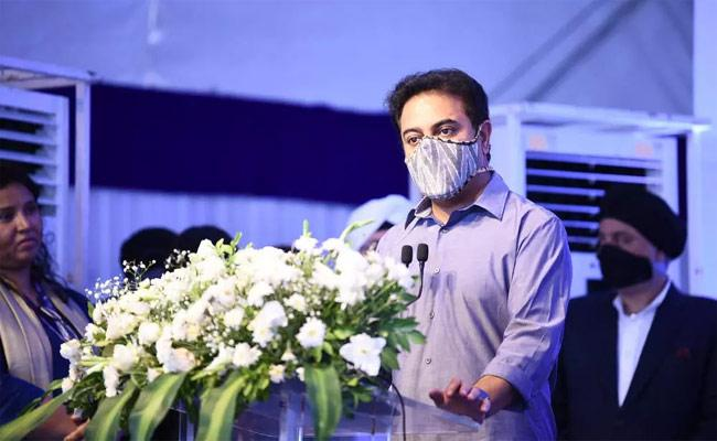 Minister KTR Participating In Inauguration of Premier Solar At E City - Sakshi