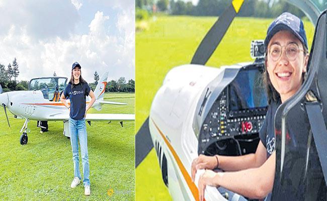 Belgian-British woman Zara Rutherford aims to set aviation record - Sakshi