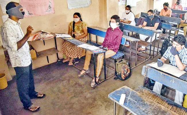 Hyderabad: Corona Pandemic Hit Private School Teachers - Sakshi