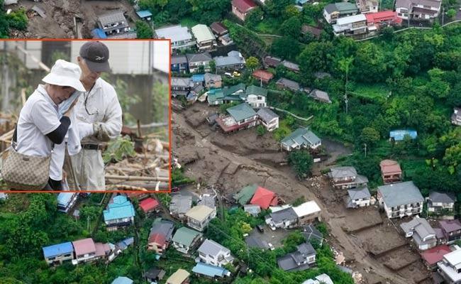 Japan Mudslide Sweeps Away Row Of Houses And People Missing In Tokyo - Sakshi