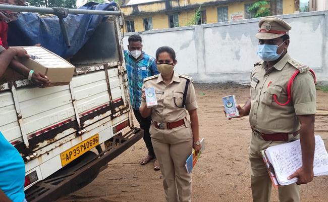 Illegally Transported in Milk Van Seized In Srikakulam District - Sakshi