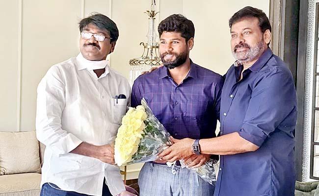 Minister Puvvada Ajay Along With His Son Meets Jr NTR And Megastar Chiranjeevi - Sakshi