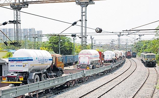 South Central Railway Supplies 7684 Metric Ton Oxygen AP TS 2 Months - Sakshi
