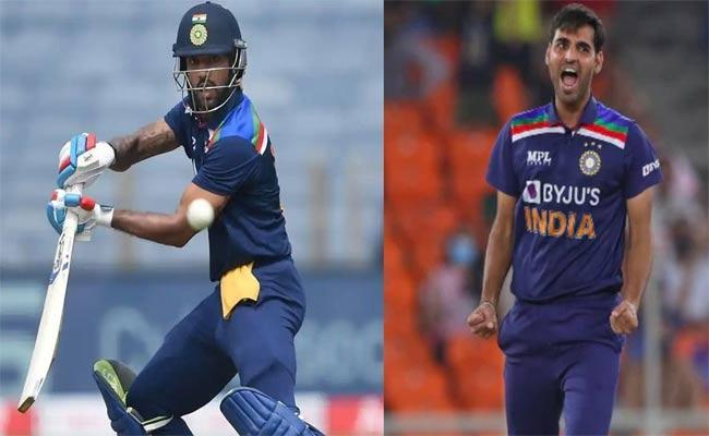 IND Vs SL: Shikhar Dhawan And Bhuvneshwar Kumar Lock Horns In Intra Squad Practice Match - Sakshi