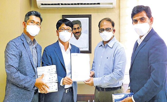 Kia India Provided 10 lakh masks for Andhra Pradesh Government - Sakshi