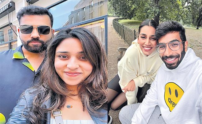 Rohit Sharma And Bumrah Spends Quality Time With Family In England - Sakshi