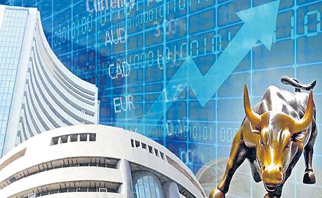 Sensex rises 194 points to hit record closing of 53,055, Nifty ends at 15,880 - Sakshi
