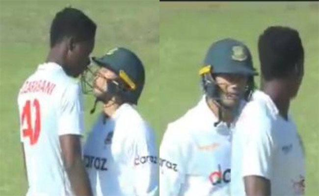 Zimbabwe Pacer Muzarabani And Bangladesh Batsman Taskin Ahmed Engage In Awkward Fight - Sakshi