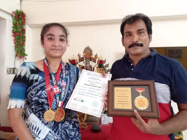 Srikakulam Girls won Three Gold Medals in in international Dance Competition - Sakshi