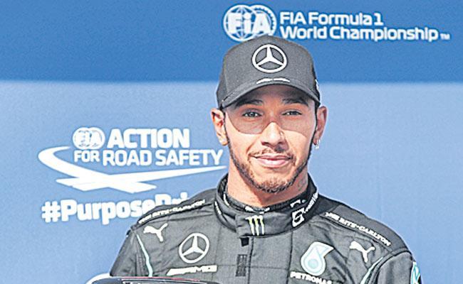 Lewis Hamilton takes Hungarian F1 GP pole as Mercedes best Verstappen - Sakshi