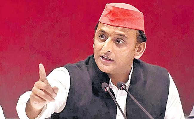BJP Using e-Ravanas On Social Media To Spread Hate: Akhilesh Yadav - Sakshi