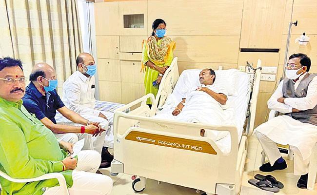 Etela Rajender Family members said health was stable - Sakshi