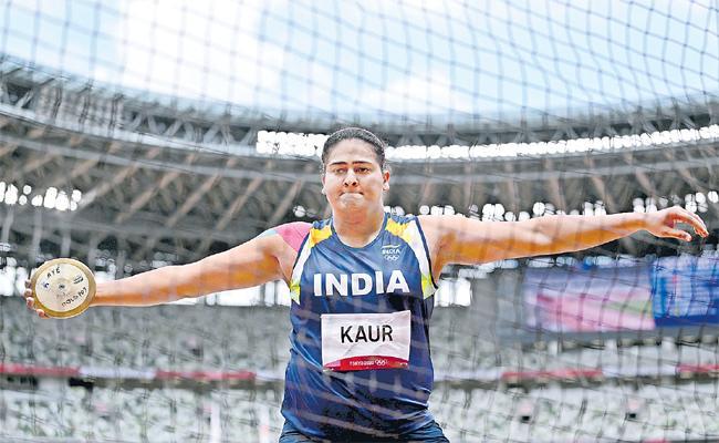 Tokyo Olympics 2020: Kamalpreet Kaur Finishes Second Discus Qualification - Sakshi