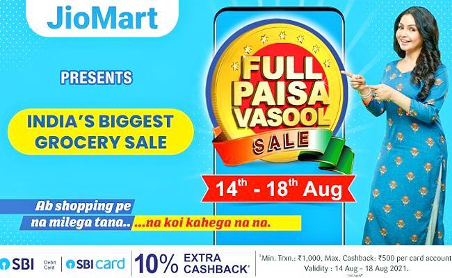 Jiomart Full Paisa Vasool Sale 2021: Check Here Offers on Groceries - Sakshi
