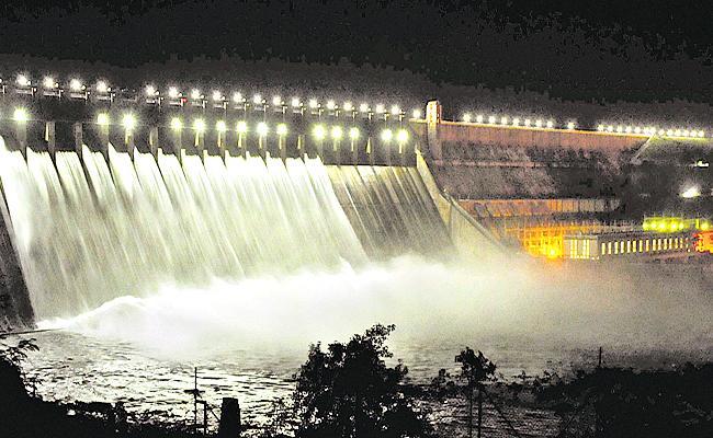 Nagarjuna Sagar Dam Gates Opened - Sakshi