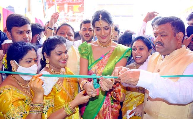 Payal Rajput in Jagtial For Shopping Mall Open, Pics Viral - Sakshi
