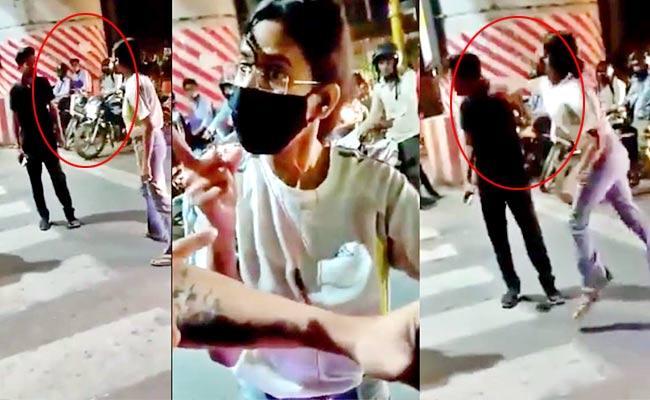 Girl Beats Taxi Driver At Signal Tweeple Demands Arrest Lucknow Girl - Sakshi