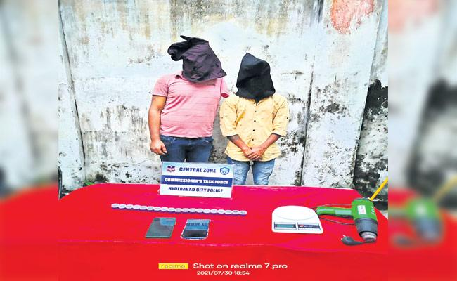 Two Arrested For Selling Hash Oil In Hyderabad - Sakshi
