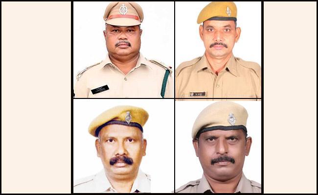 4 Policemen Assassinated Road Accident In Srikakulam - Sakshi