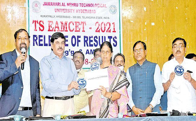 Telangana EAMCET Result Released - Sakshi