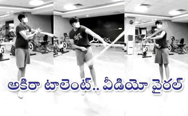 Actress Renu Desai Shares son Akira Nandan Martial Arts video goes viral - Sakshi