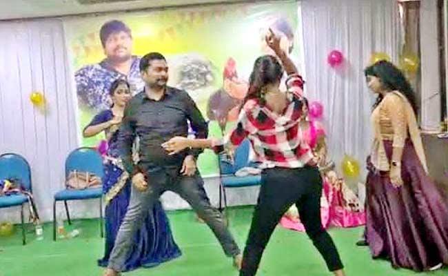 On Birth Day Occasion Obscene Dance In Pattabhipuram - Sakshi