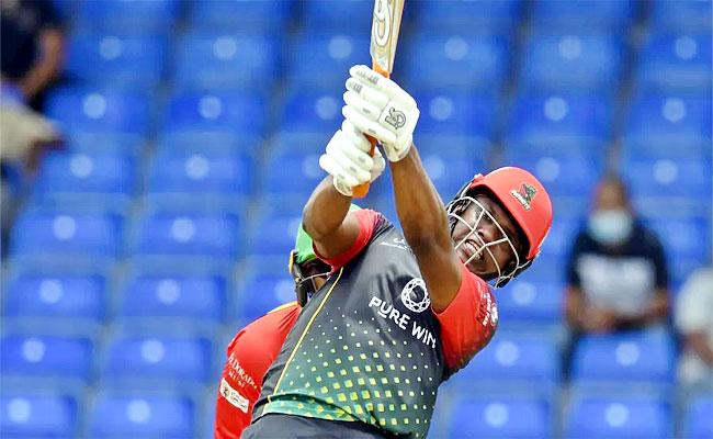 Evin Lewis Century With 11 Sixes St Kitts Qualify Playoff CPL 2021 - Sakshi
