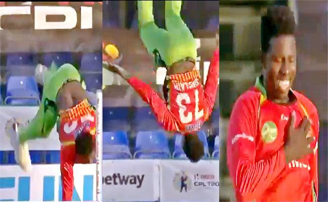 Kevin Sinclair Literally Flipping Out After Getting Chris Gayle Wicket Viral - Sakshi