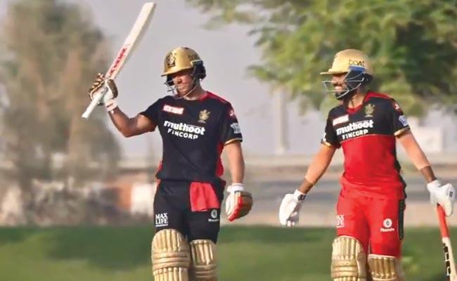 IPL 2021 Phase 2: AB de Villiers Cracks Century RCB Intra Squad Match - Sakshi