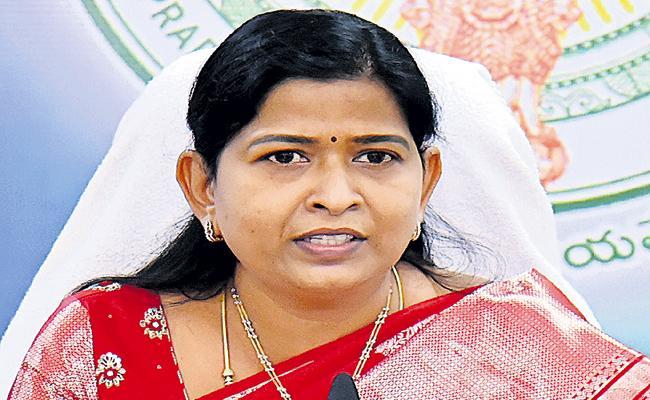 Taneti Vanitha Comments On Nara Lokesh - Sakshi