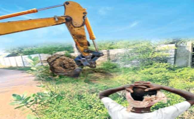 Galla Foods Land Grabs In Chittoor District - Sakshi