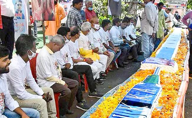 PM Modi birthday: BJP workers and others celebrations - Sakshi