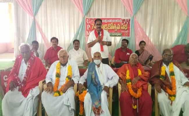 CPM Leader Tammineni Virabhadram Comments On BJP In Nalgonda - Sakshi