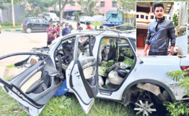 Police Investigating Audi Car Accident In Bangalore - Sakshi