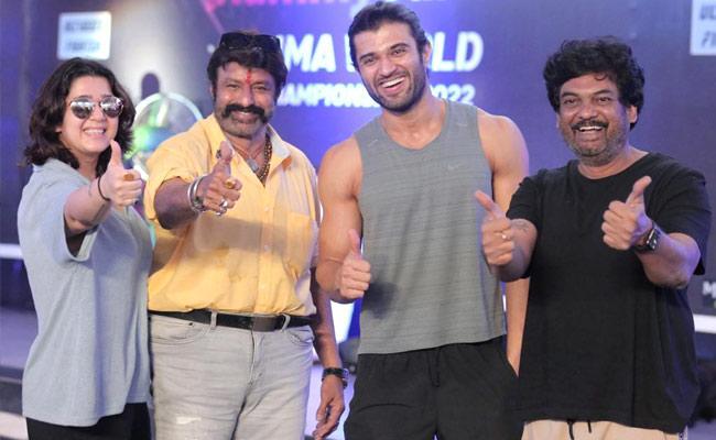 Balakrishna Visit Vijay Deverakonda Liger Movie Sets, Pics Goes Viral - Sakshi