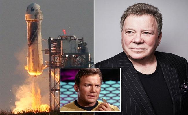 William Shatner Of Star Trek Fame Going To Space Aboard Jeff Bezos Blue Origin - Sakshi
