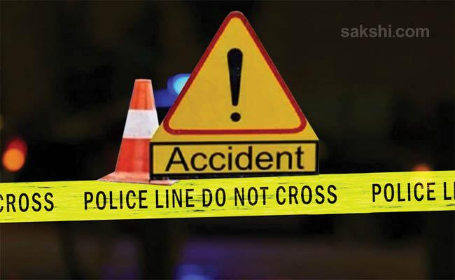 Bike Road Accident At Pathapadu Road Krishna District - Sakshi