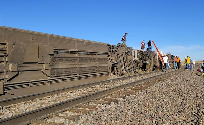Three killed, several injured As Amtrak train In US  - Sakshi