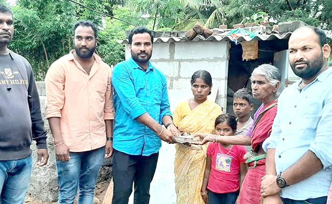 Family Living In Toilet: Sakshi Affect Donors Helped To New House