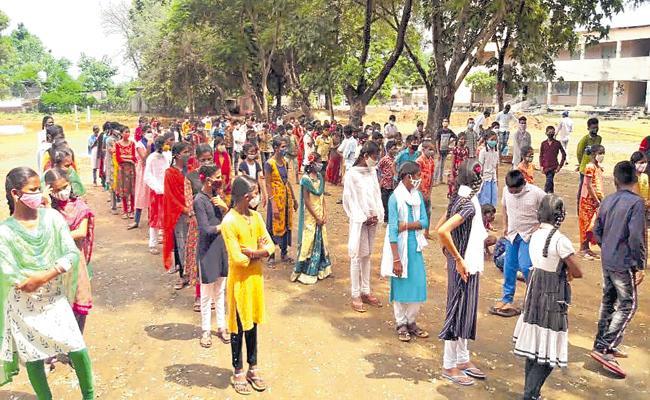 Positive for 10 govt teachers in Single day in Bhadradri and Yadadri - Sakshi