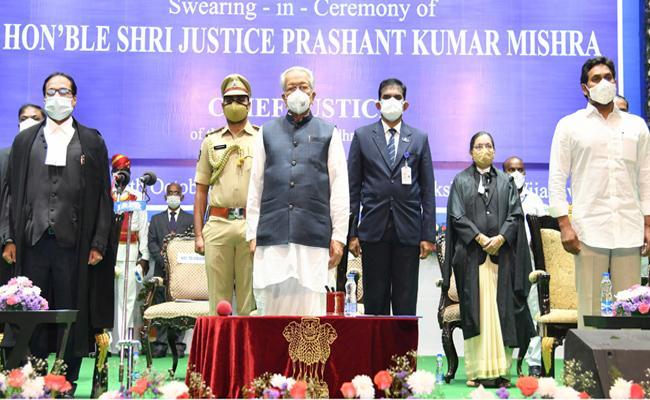 Justice Prashant Kumar Mishra Take Oath As AP High Court CJ - Sakshi